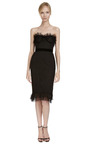 Chantilly Lace Corset Dress by MARCHESA Now Available on Moda Operandi