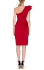 Rose Detail Sculpted Asymmetric Dress by MARCHESA Now Available on Moda Operandi