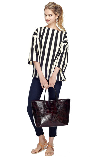 Striped Oversized Cotton Top by MARNI Now Available on Moda Operandi
