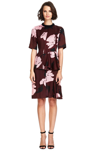 Floral Print Satin Twill Blouse by MARNI Now Available on Moda Operandi