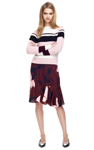 Floral Print Satin Twill Skirt by MARNI Now Available on Moda Operandi