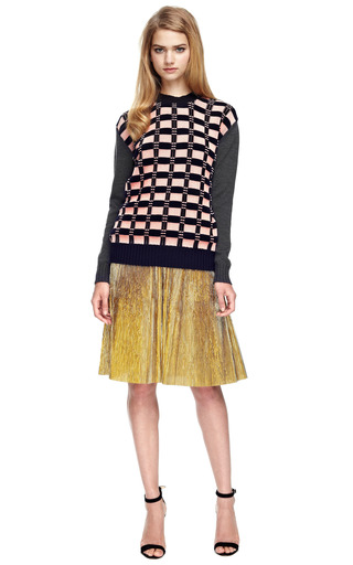 Pleated Lurex Skirt by MARNI Now Available on Moda Operandi