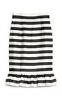 Bella Jacquard Stripe Frill Skirt by MOTHER OF PEARL Now Available on Moda Operandi