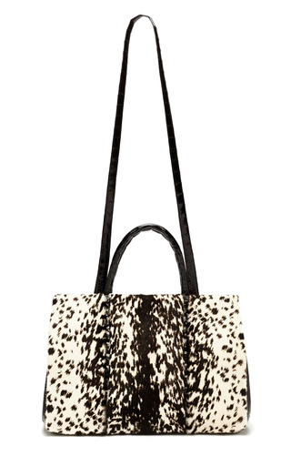 Medium nancy gonzalez multi snow leopard double handle tote