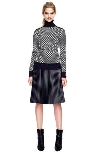 Faux Leather Plisse Skirt by MSGM Now Available on Moda Operandi