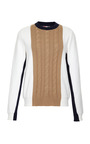 Cotton Blend Sweatshirt With Cable Knit Detail by MSGM Now Available on Moda Operandi