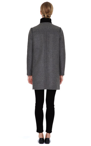 Single Breasted Heavy Wool Coat by NARCISO RODRIGUEZ Now Available on Moda Operandi