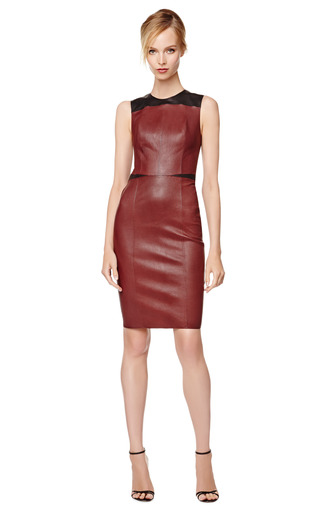 Two Tone Fitted Leather Dress by NARCISO RODRIGUEZ Now Available on Moda Operandi