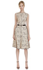 Cotton Blend Jacquard A Line Dress by NARCISO RODRIGUEZ Now Available on Moda Operandi