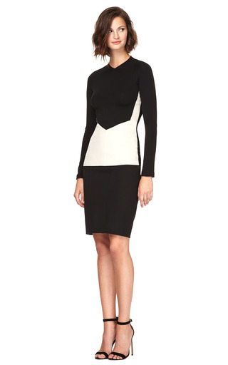 Color Block Crepe Jersey Fitted Top by NARCISO RODRIGUEZ Now Available on Moda Operandi