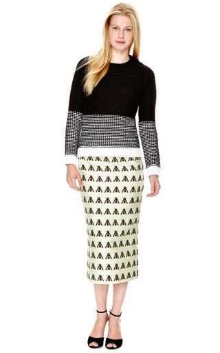 Wool Blend Chunky Knit Crewneck Sweater by NARCISO RODRIGUEZ Now Available on Moda Operandi