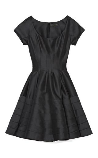 Medium zac posen black silk faille cocktail dress 3