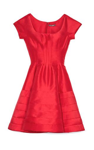 Medium zac posen red silk faille cocktail dress 2
