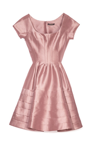Medium zac posen pink silk faille cocktail dress