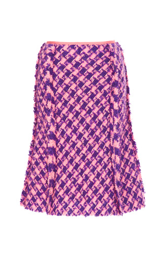 Two Tone Wool Blend Tweed Skirt by NINA RICCI Now Available on Moda Operandi