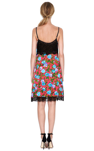 Floral Lace Trimmed Silk Satin Slip Dress by NINA RICCI Now Available on Moda Operandi