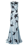 Floral Appliqued Satin Gown by NINA RICCI Now Available on Moda Operandi