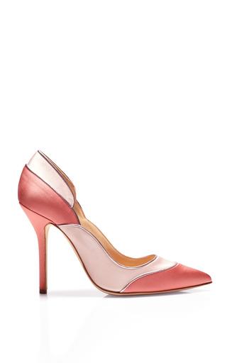 Medium oscar de la renta pink guiana satin pumps
