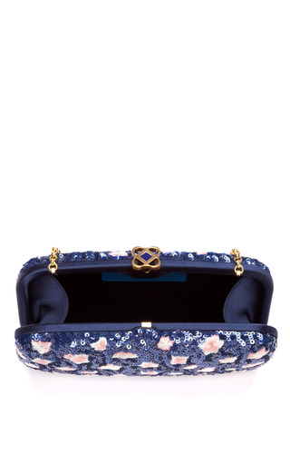 Goa Sequined & Embroidered Clutch by OSCAR DE LA RENTA Now Available on Moda Operandi