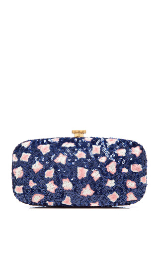 Medium oscar de la renta multi goa sequined embroidered clutch
