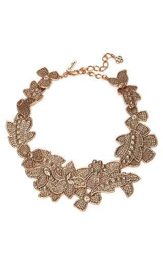 Antique Lace Bib Necklace by OSCAR DE LA RENTA Now Available on Moda Operandi