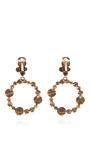 Gold Plated Disc Clip On Earrings by OSCAR DE LA RENTA Now Available on Moda Operandi
