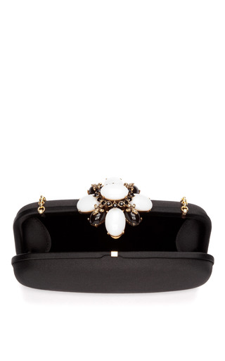 Embellished Satin Clutch by OSCAR DE LA RENTA Now Available on Moda Operandi