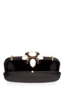 Embellished Satin Clutch by OSCAR DE LA RENTA Now Available on Moda Operandi