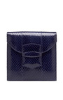 Grafton Snakeskin Envelope Clutch by OSCAR DE LA RENTA Now Available on Moda Operandi
