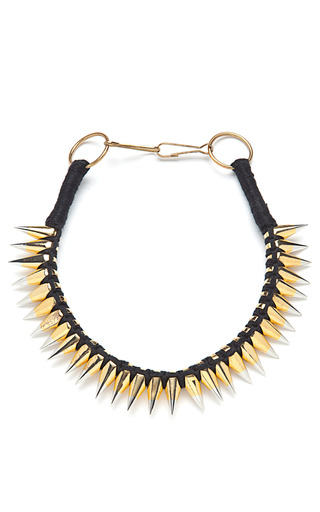 Braided Thread Necklace With Two Tone Spikes by A.L.C. Now Available on Moda Operandi