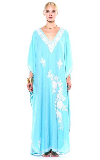 Medium pas pour toi white baby blue and white cotton kaftan