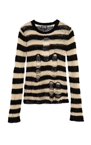 Medium tripp nyc brown black ivory ripped sweater