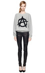 Sequined Anarchy Sign Cotton Sweatshirt by ASHISH Now Available on Moda Operandi