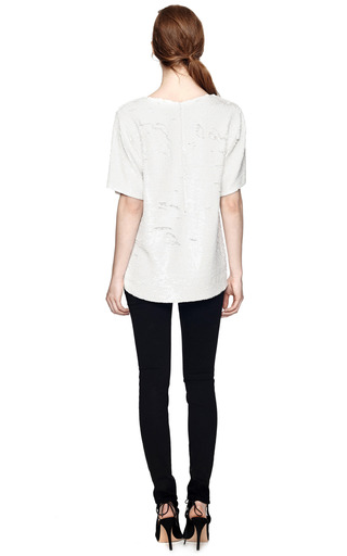 Sequined Rebel Of The Ball Silk T Shirt by ASHISH Now Available on Moda Operandi