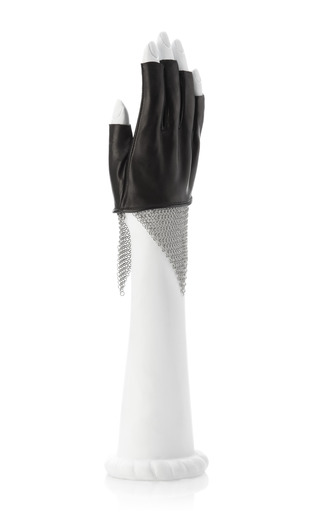 Cropped Lambskin & Chain Mesh Gloves by URSTADT SWAN Now Available on Moda Operandi