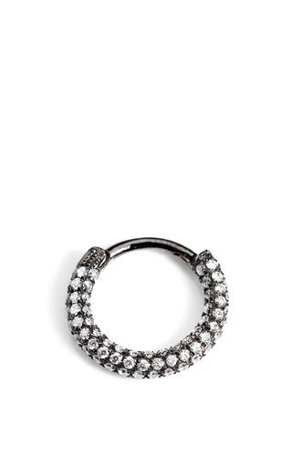 Medium maria tash black 18k white gold and black rhodium diamond clicker earring