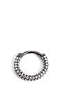 18 K White Gold And Black Rhodium Diamond Clicker Earring by MARIA TASH Now Available on Moda Operandi