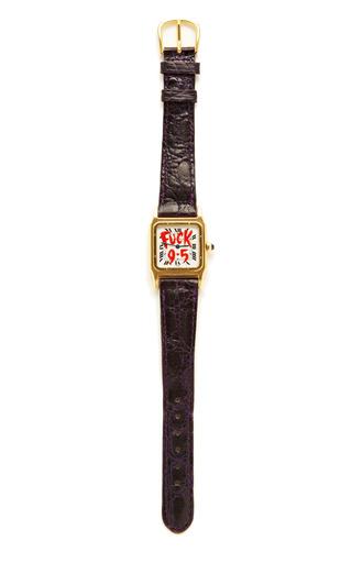 Medium foundwell gold customized vintage cartier watch