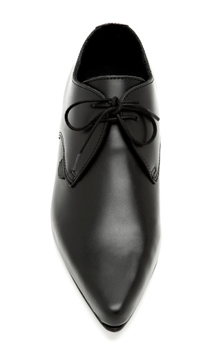 Pointed Toe Leather Lace Up Flats by LONDON UNDERGROUND Now Available on Moda Operandi