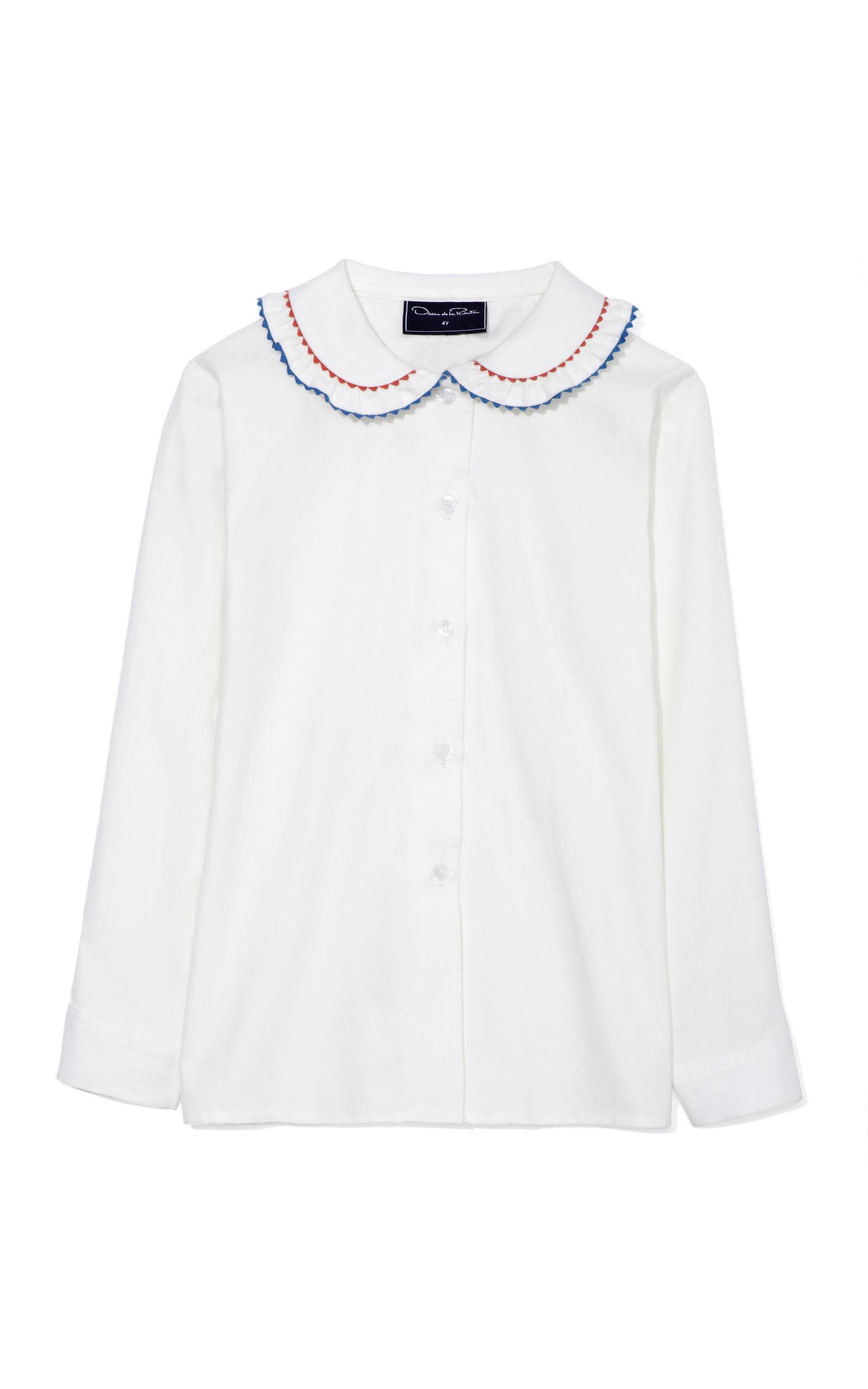 French cuff blouse - White Oscar De La Renta Visit New Online Latest Collections Pick A Best AsDUs