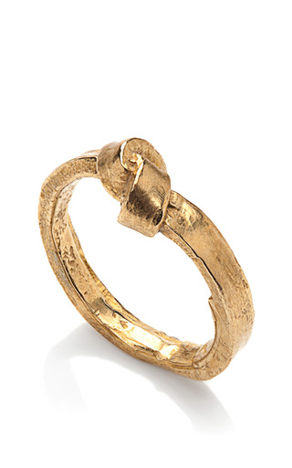 Brass Single Knot Ring by K/LLER COLLECTION Now Available on Moda Operandi