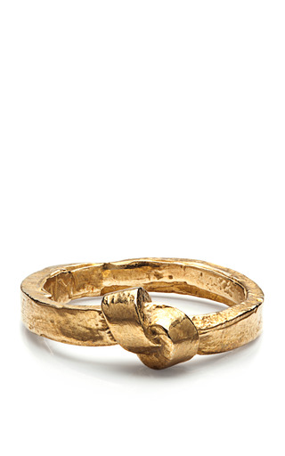 Medium k ller collection gold brass single knot ring