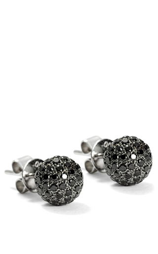 Black Diamond Stick Earrings by SHAMBALLA JEWELS for Preorder on Moda Operandi
