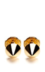 Yellow Gold Muse Studs by ELISE DRAY Now Available on Moda Operandi
