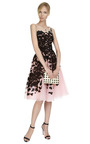 Embroidered Lace Cocktail Dress by OSCAR DE LA RENTA Now Available on Moda Operandi