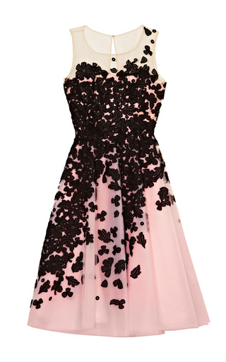 Medium oscar de la renta multi embroidered lace cocktail dress