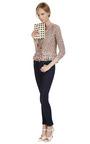 Silk Blend Metallic Trimmed Crocheted Jacket by OSCAR DE LA RENTA Now Available on Moda Operandi