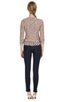 Silk Blend Metallic Trimmed Crocheted Jacket by OSCAR DE LA RENTA Now Available on Moda Operandi