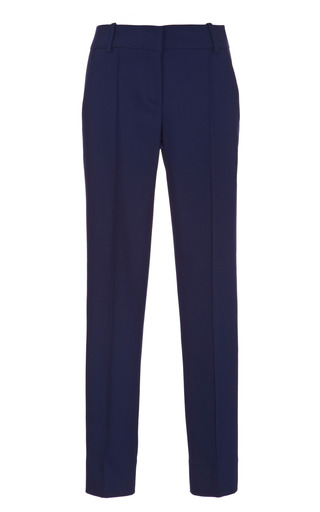Wool And Silk Blend Slim Pants by OSCAR DE LA RENTA Now Available on Moda Operandi