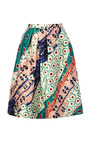 Printed Silk Blend A Line Skirt by OSCAR DE LA RENTA Now Available on Moda Operandi